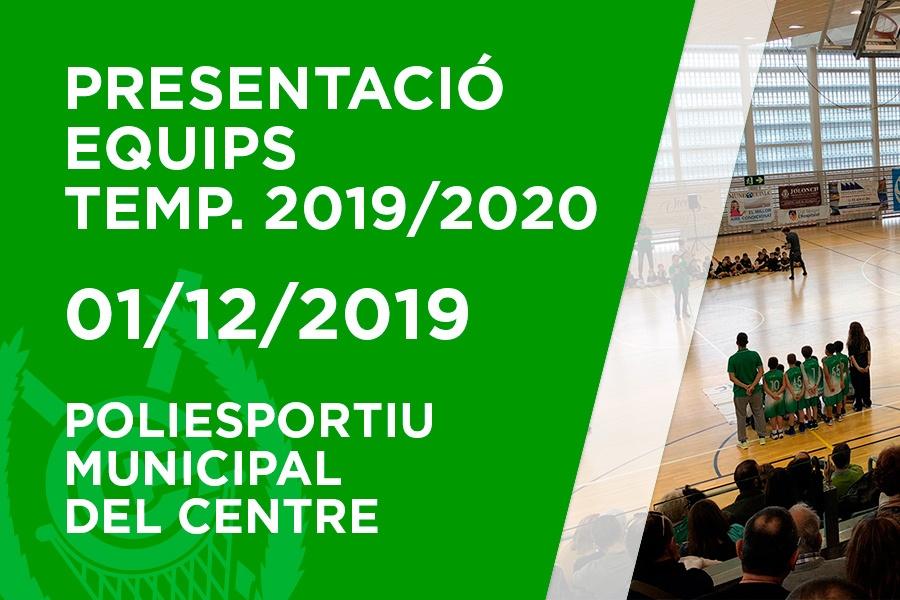 Presentació equips Temporada 2019-2020