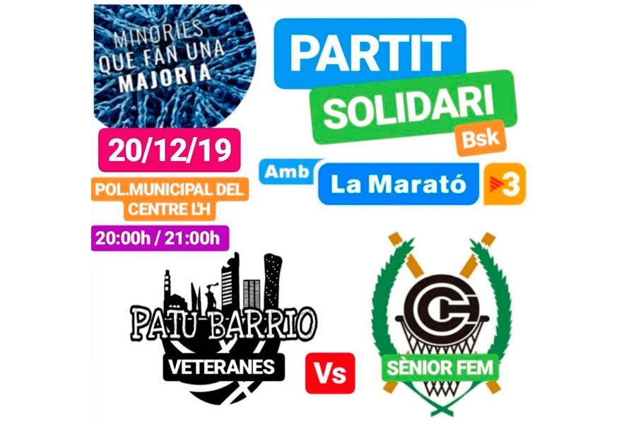 Partit Solidari: PatuBarrio (veteranes) Vs Sènior Femení